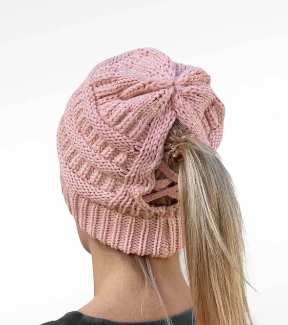 bonnet queue de cheval rose ouverture alsportswear alexandra ledermann sportswear