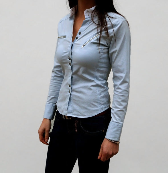 chemise up to you bleu ciel alexandra ledermann sportswear