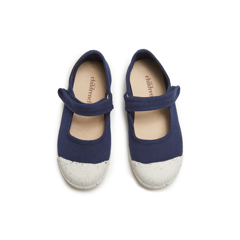 Girls' Childrenchic® ECO-friendly Mary Jane Sneakers in Navy