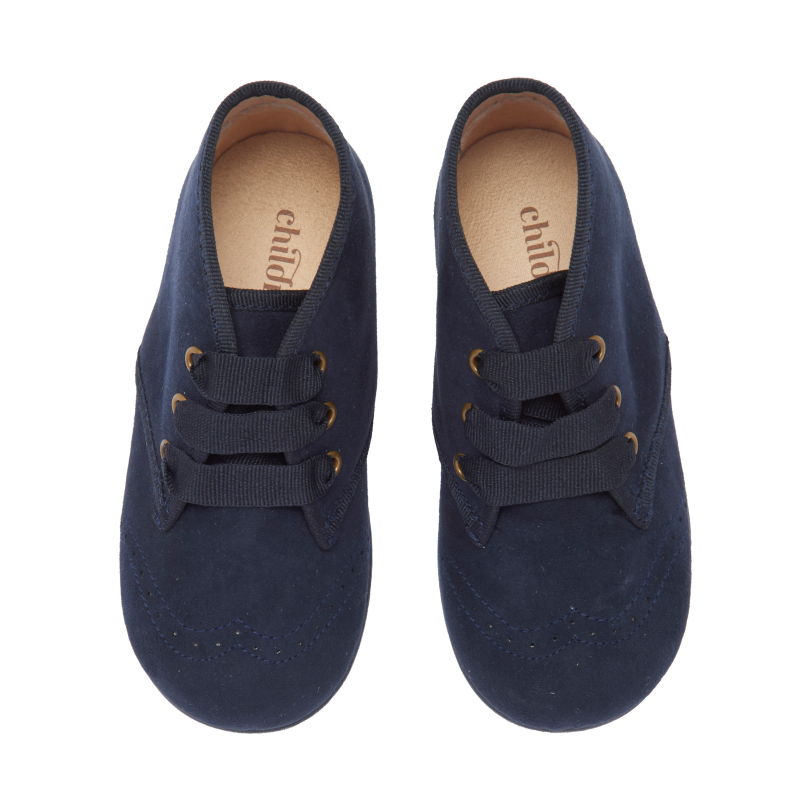 Kids' Childrenchic® Navy Suede Spectator Booties
