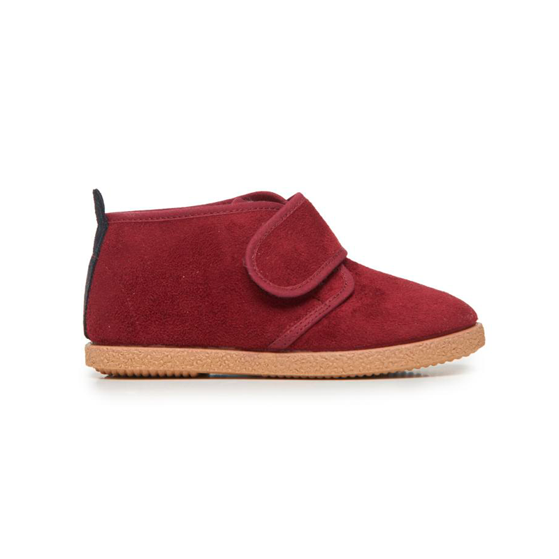 Childrenchic® Wine Suede and Faux-Shearling McAlister Booties
