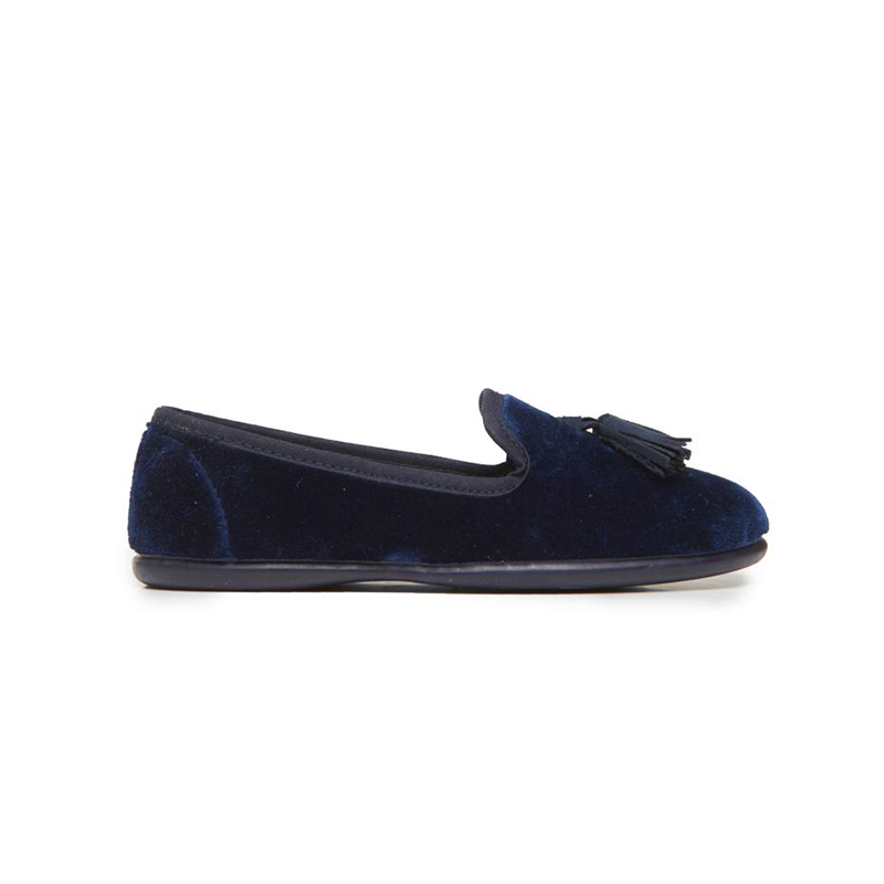 Kid's Childrenchic® Navy Velvet Loafers