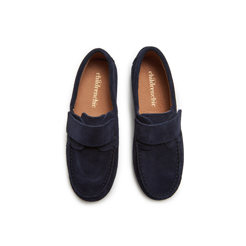 Kids' Childrenchic® Suede Driving Loafers in Navy