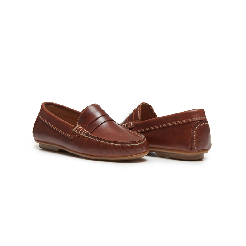 Kids' Childrenchic® Leather Penny Loafers in Brown