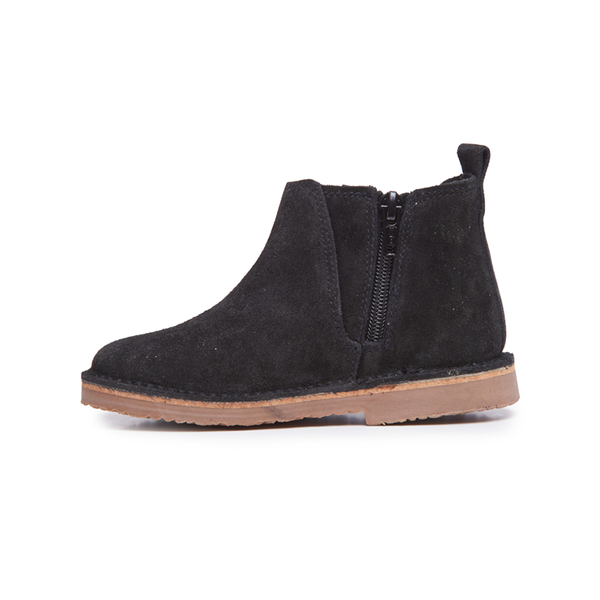 Girls' Childrenchic® Star Sparkle and Black Suede Chelsea