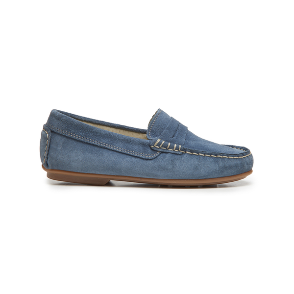 Kids' Childrenchic® Suede Penny Loafers in Blue
