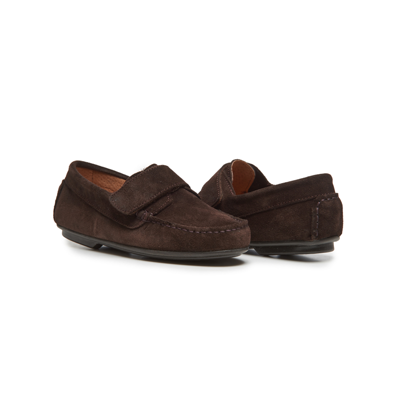 Kids' Childrenchic® Suede Driving Loafers in Brown
