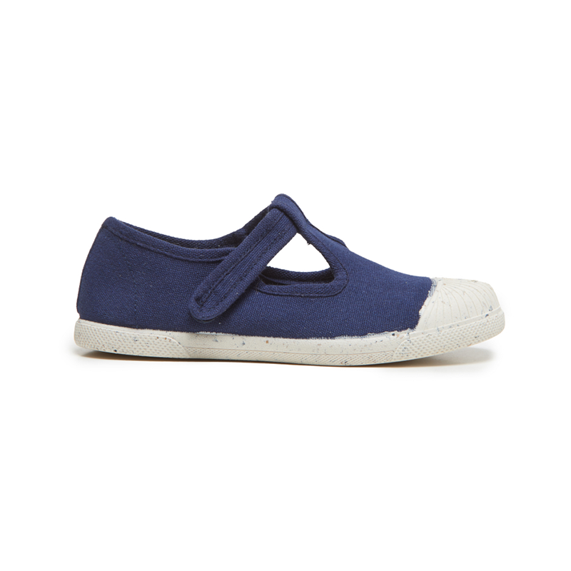 Kids' Childrenchic® ECO-friendly T-band Sneakers in Navy