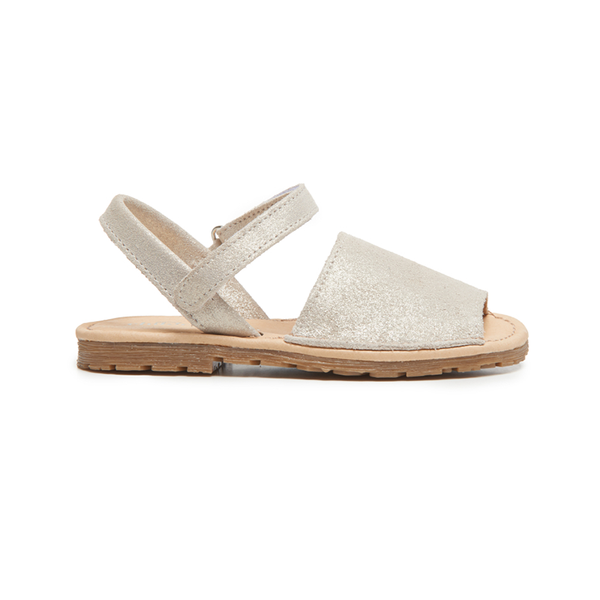 Girls' Childrenchic® Leather Sandals in Nude Shimmer