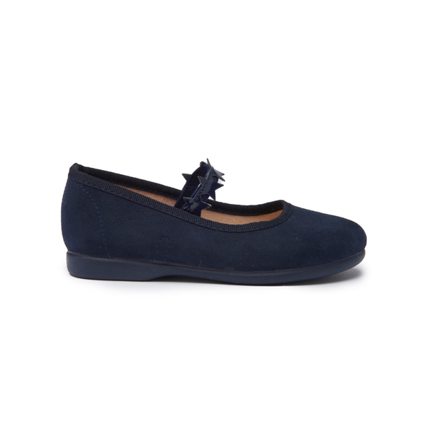Girls' Childrenchic® Navy Suede and Stars Mary Janes