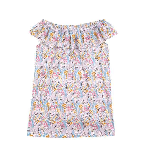 Girl's Olivier x Childrenchic® Off-shoulder Tulip Dress