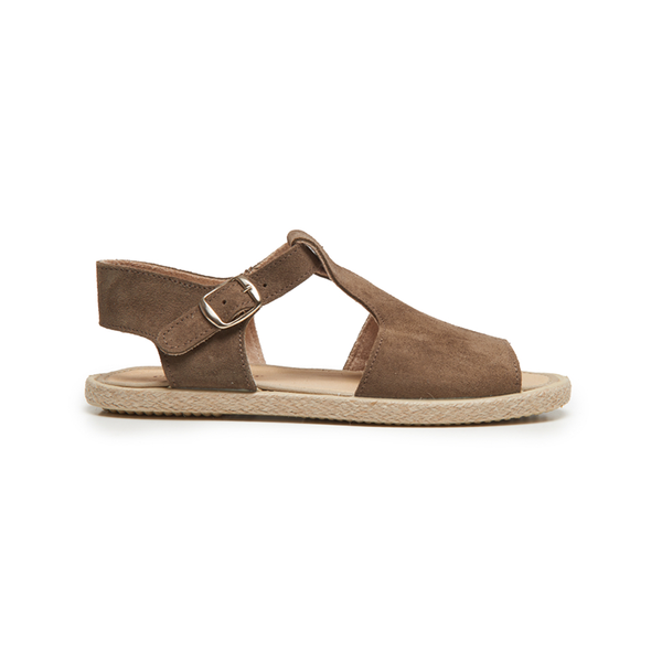 Kid's Childrenchic® T-bar Espadrille Sandal in Taupe