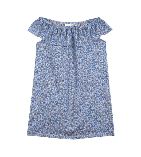 Girl's Olivier x Childrenchic® Off-shoulder Lilies Dress