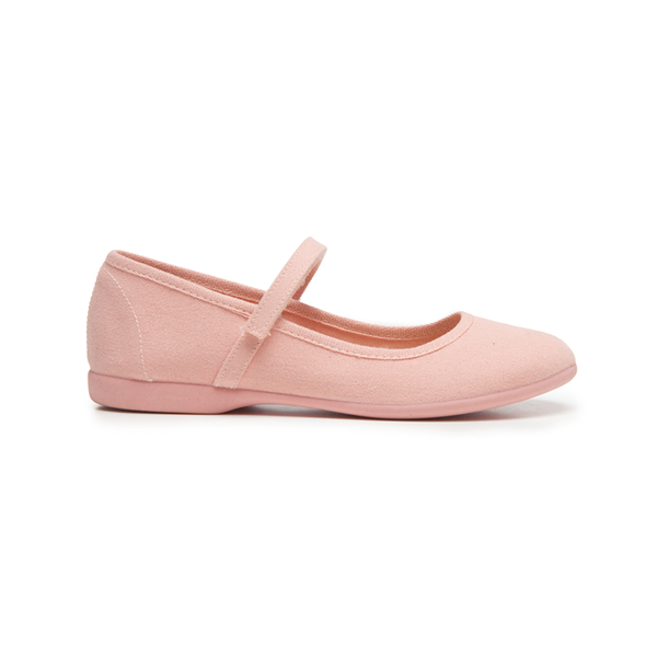 Girls' Childrenchic® ECO-friendly Canvas Mary Janes in Peach
