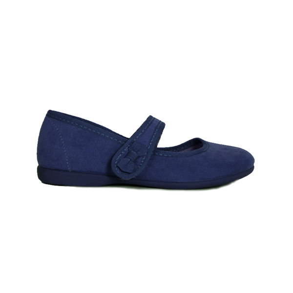 Girls' Childrenchic® Navy Suede Bow Mary Janes