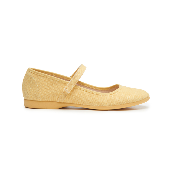 Girls' Childrenchic® Canvas Mary Janes in Pineapple