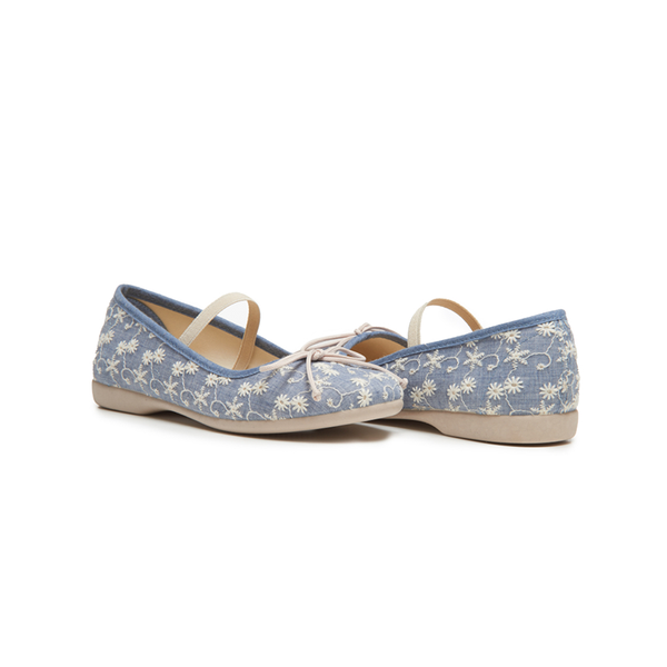 Girls' Childrenchic® Blue Ballet Flats