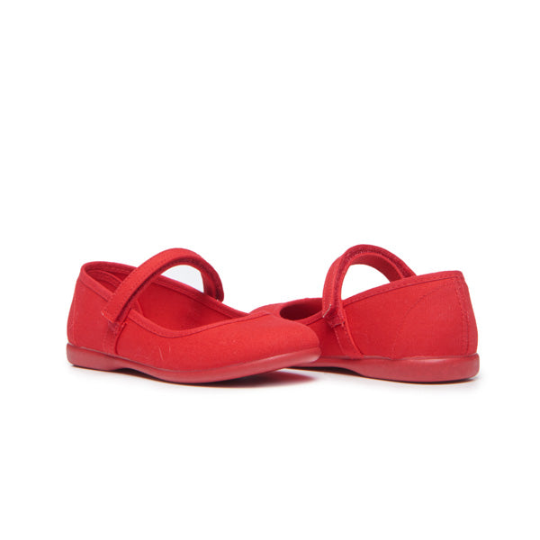 Girls' Childrenchic® Canvas Mary Janes in Red