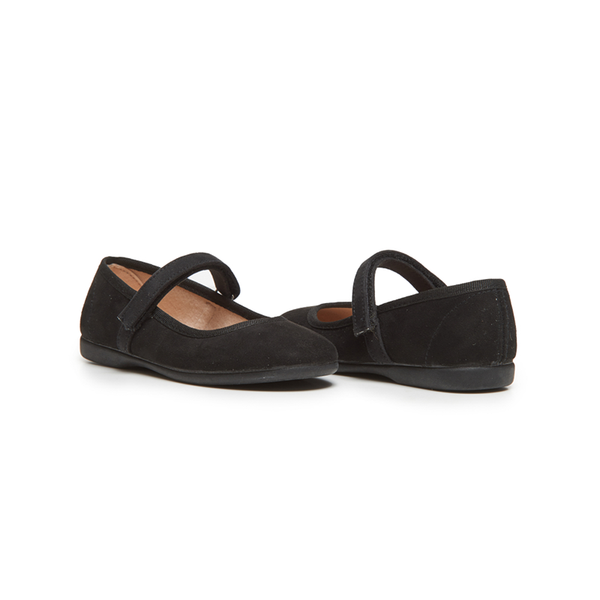 Girls' Childrenchic® Suede Mary Janes in Black