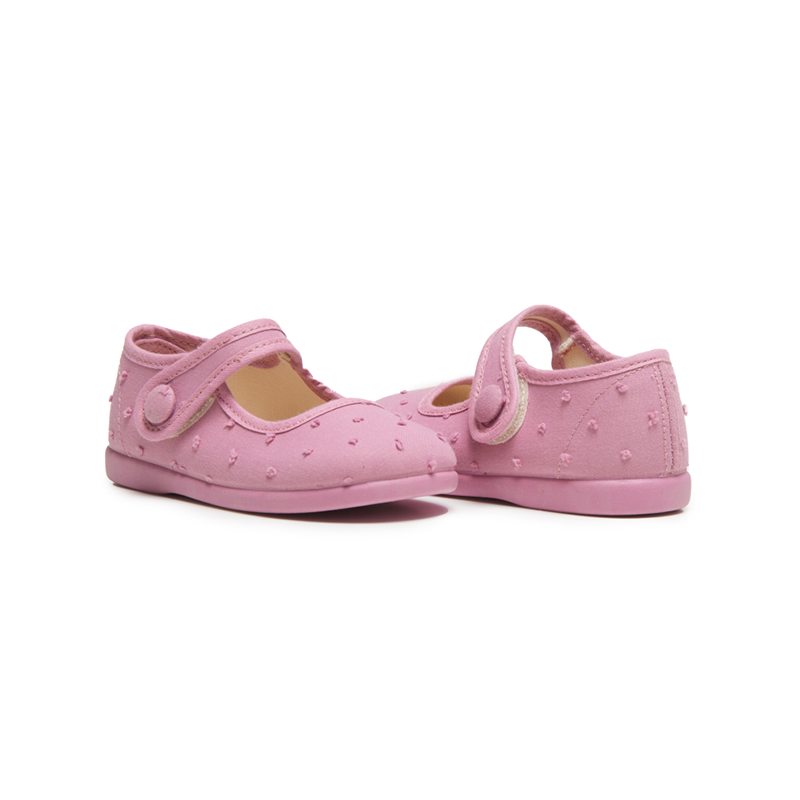 Girl's Childrenchic® Swiss-dot  Mary Janes in Pink