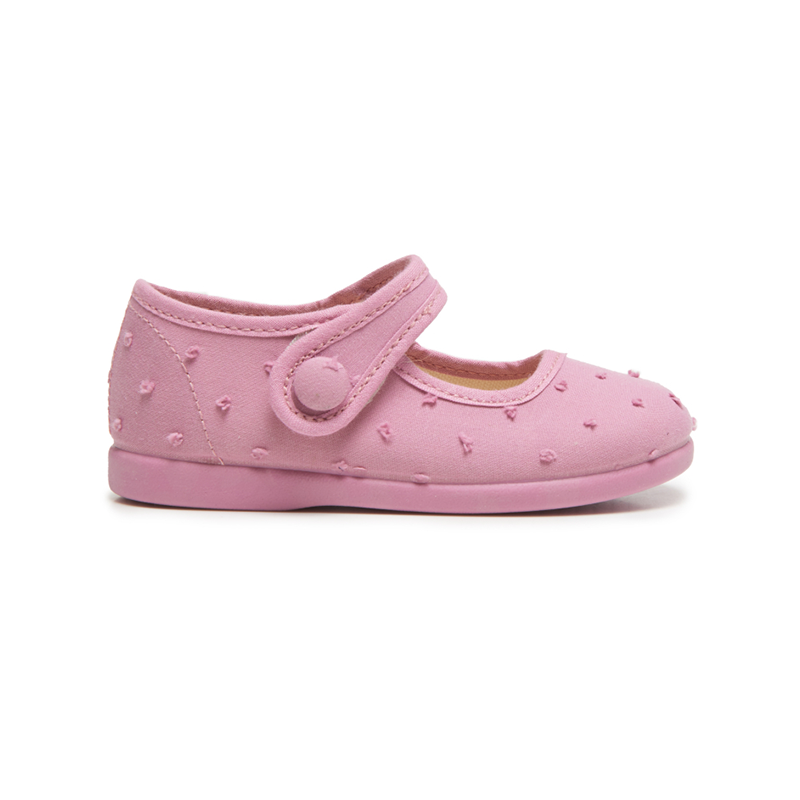 Girl's Childrenchic® Swiss-dot  Mary Janesin in Pink