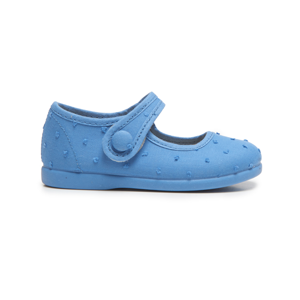 Girl's Childrenchic® Swiss-dot  Mary Janes in Blue