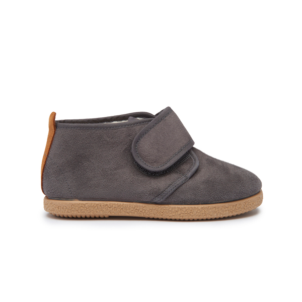 Childrenchic® Grey Suede and Faux-Shearling McAlister Booties