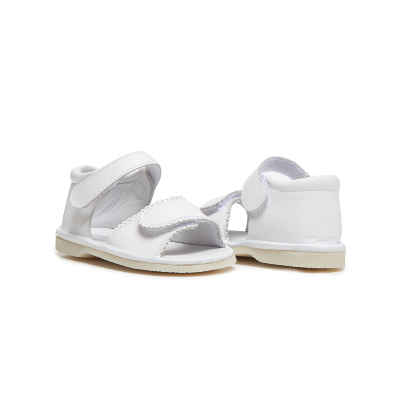 Childrenchic® My-First  Leather Velcro Sandal in White