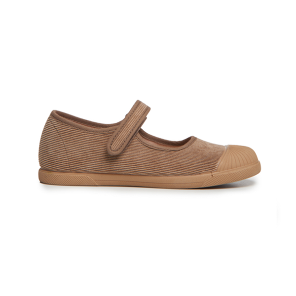 Girls' Childrenchic® Cord Mary Jane Captoe Sneakers in Camel