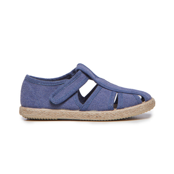 Kid's Childrenchic® Canvas Sandal in Denim