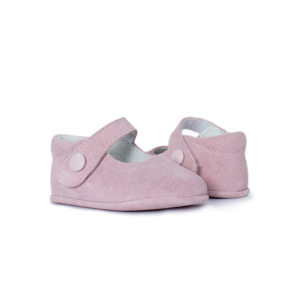 My-First Pink Suede Baby Mary Janes