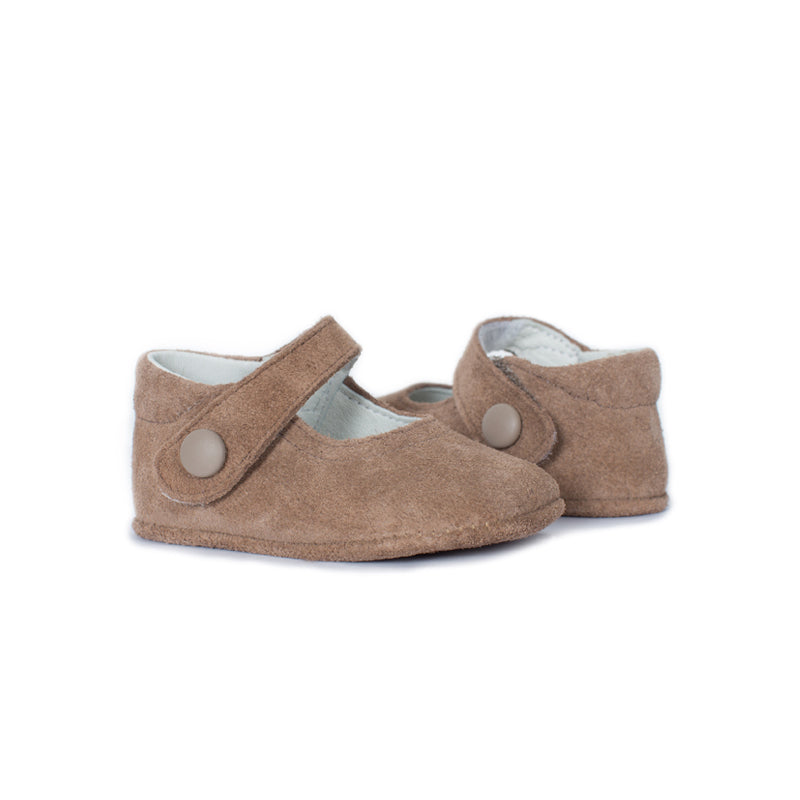 My-First Camel Suede Baby Mary Janes