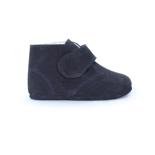 Childrenchic® My-First Navy Suede Baby Pram Velcro Booties