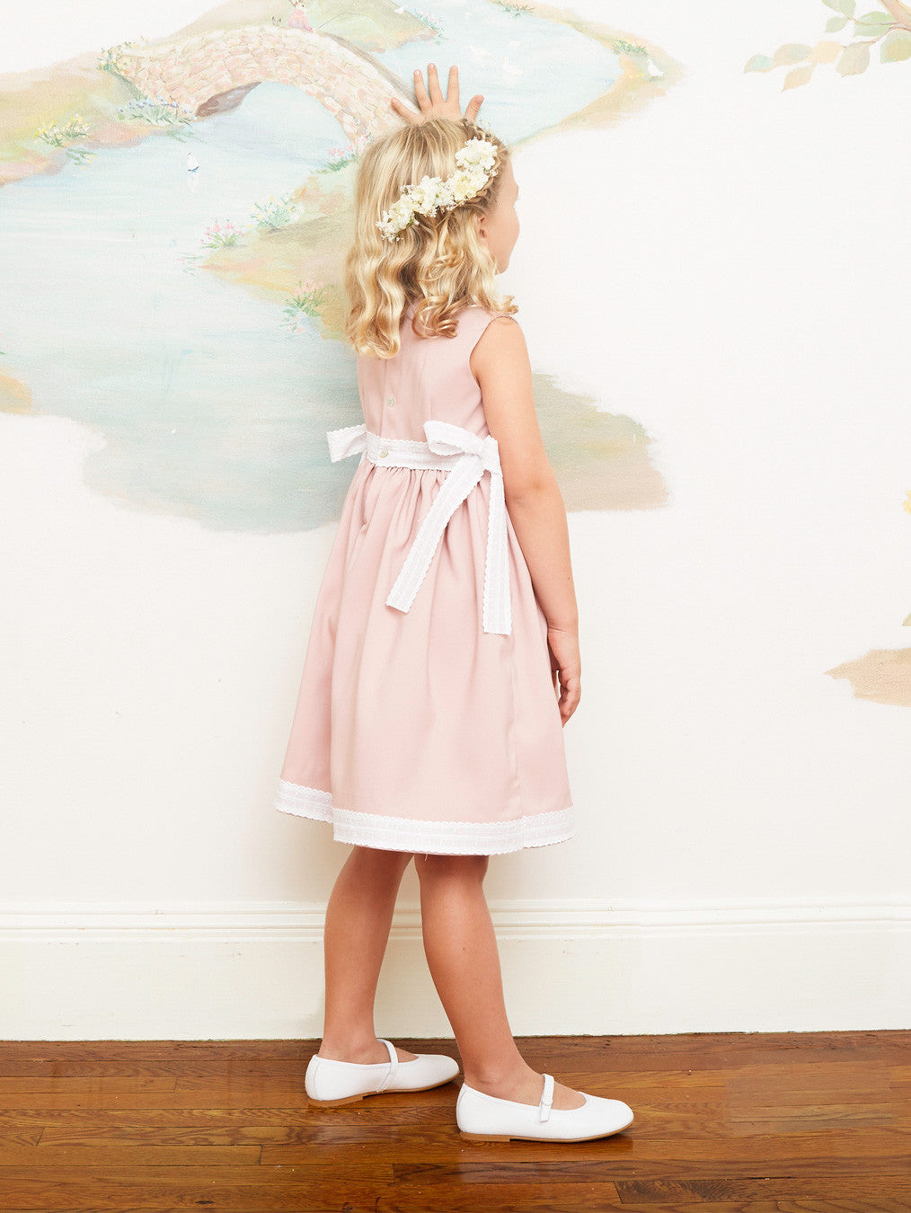 Pretty Pale Pink A-Line Dress