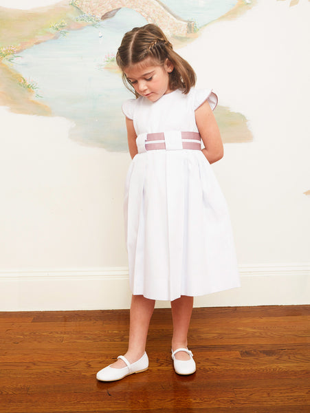 Elegant Empire Waist White Dress