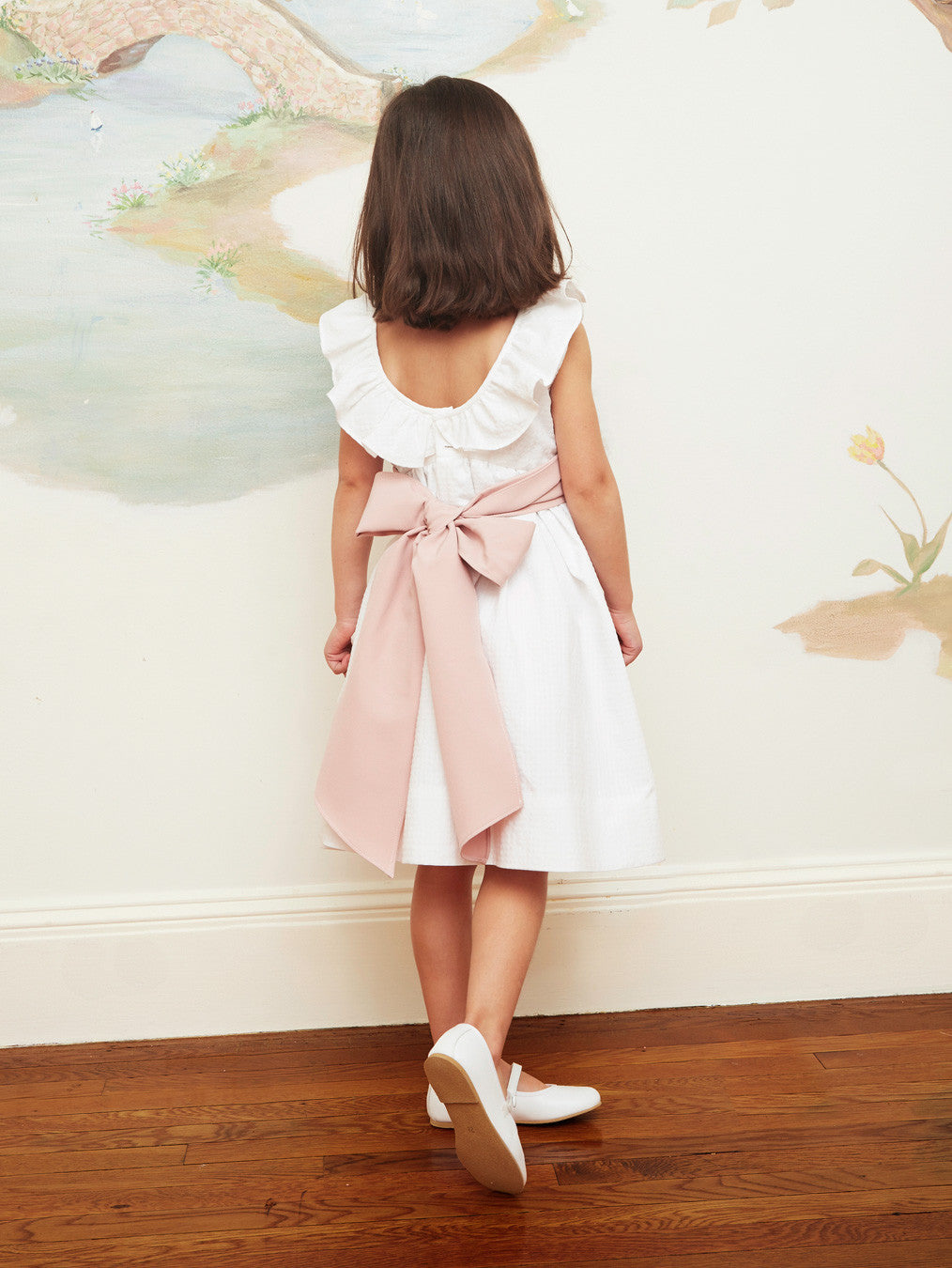 Sculptural Ruffled A-Line Dress