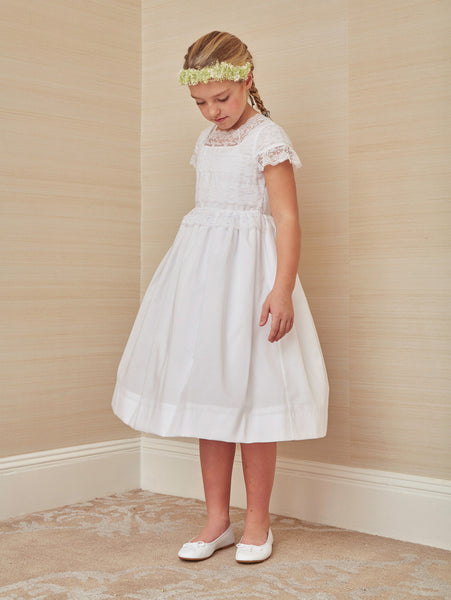e33eee7971227 Delicate Lace First Communion Dress – childrenchic