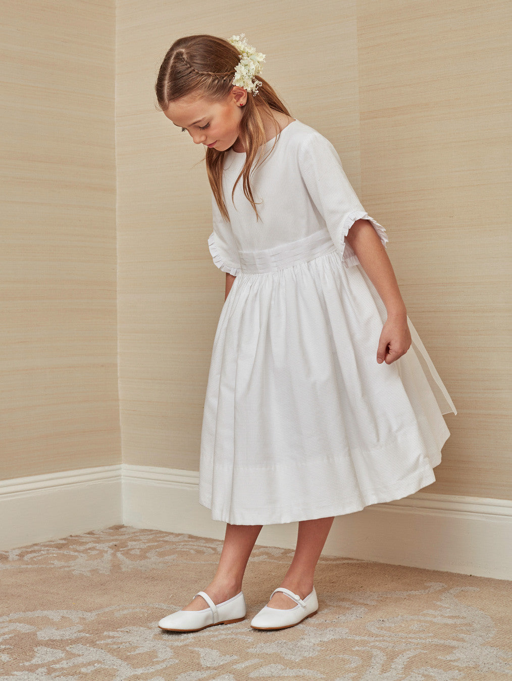 9877a0b6d2b83 Chic First Communion Dress in white Cotton – childrenchic