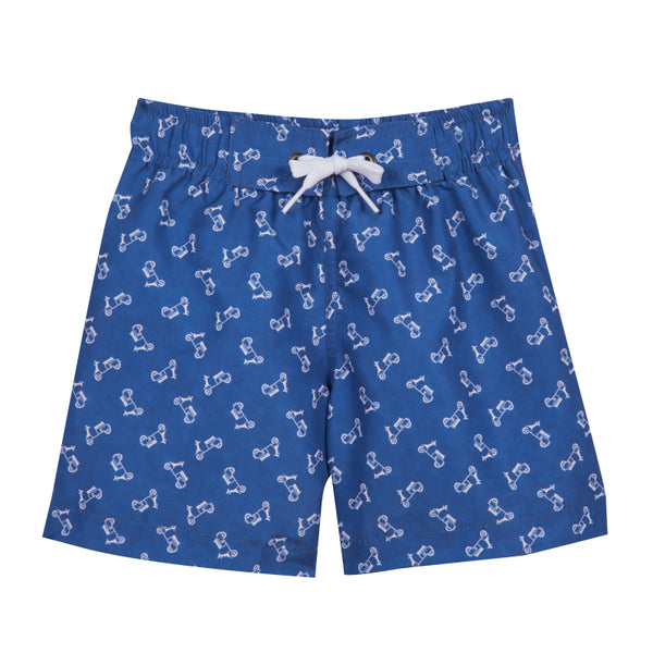 Boy's Blue Vespas Swimsuit