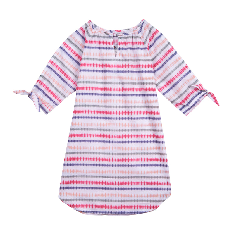 Girl's Indie Sunset Stripes Kaftan