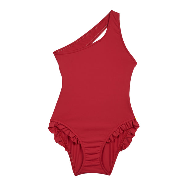 Girls's Childrenchic® Sideshoulder Fraise Swimsuit