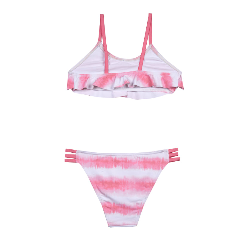 Girls Childrenchic® Pink Tie Dye Bikini