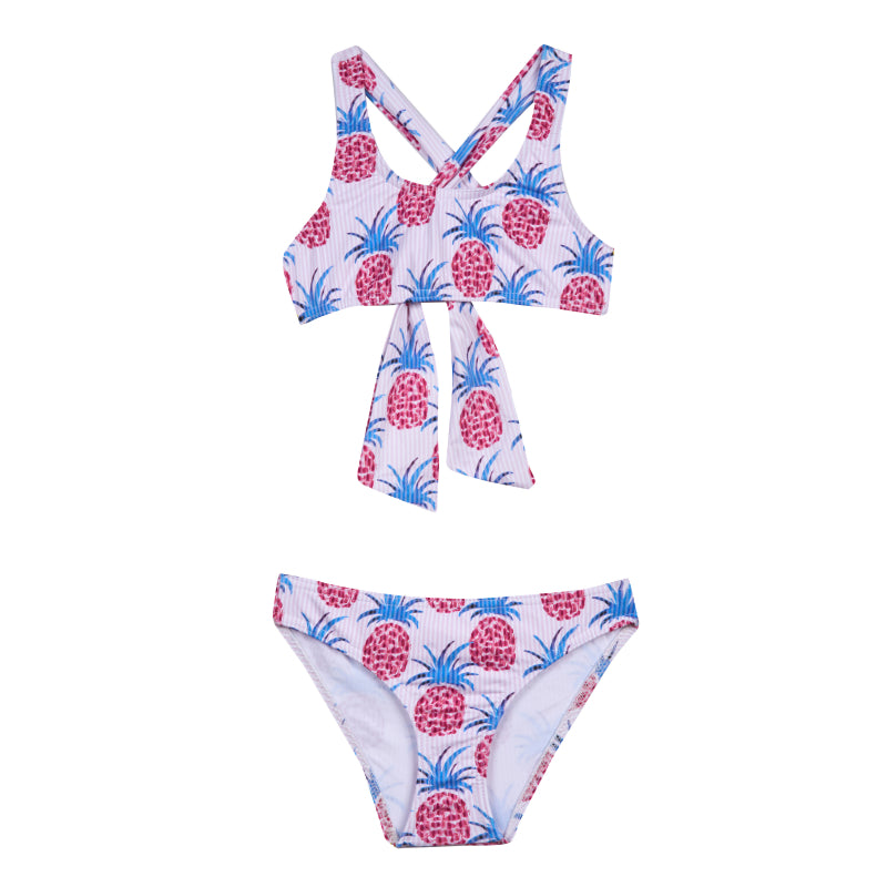 Girl's Pineapple Loop Bikini