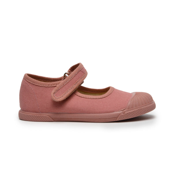 Girls' Childrenchic® Canvas Mary Jane Captoe Sneakers in Rosewood