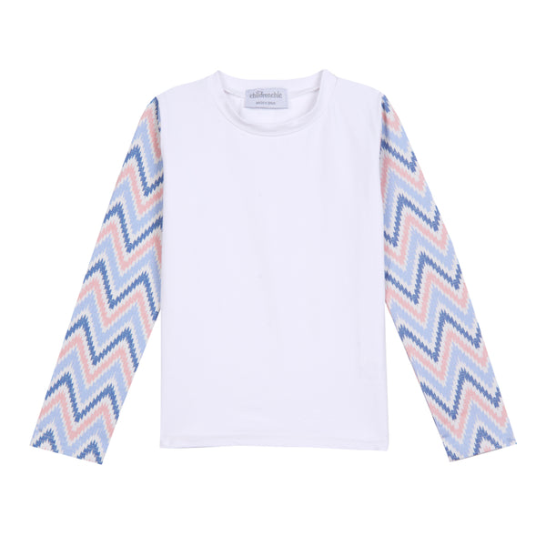 Girl's Childrenchic® Mod Chevron Rashguard
