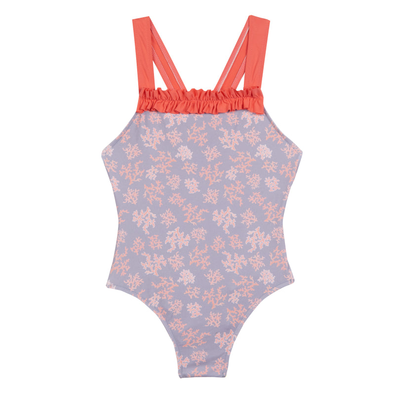 Girl's Childrenchic® Corals Swimsuit