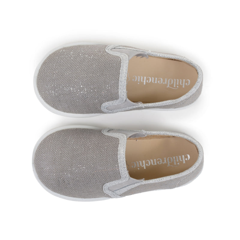 Girl's Grey and Silver Slip-on