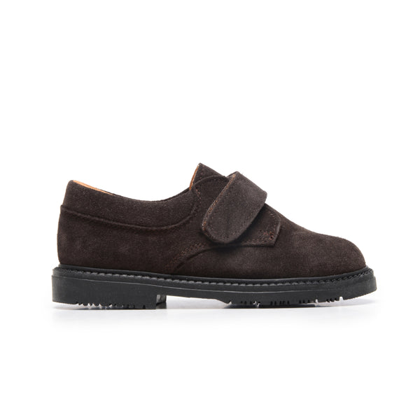 Boys' Brown Suede Velcro Loafers
