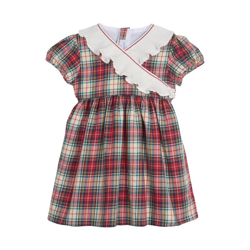 Girl's Jolly Plaid Traditional Dress
