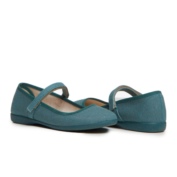 Girls' Childrenchic® Canvas Mary Janes in Textured Teal